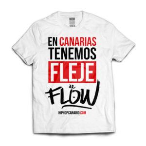 FDF-001 U Fleje de Flow x hiphopcanario.com (Unisex) (White) (Front)
