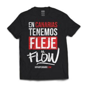 FDF-002 U Fleje de Flow x hiphopcanario.com (Unisex) (Black) (Front)