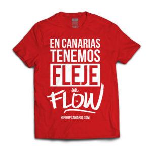 FDF-003 U Fleje de Flow x hiphopcanario.com (Red Edition) (Unisex) (Red) (Front)